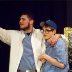 Chaz Slattman and Ian Jones in Little Shop of Horrors.