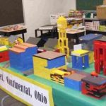 Lego bricks were used by Continental elementary students to build a model of Main St. Continental.