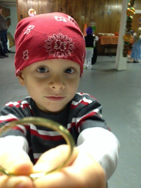 "Ashton was a pirate for Halloween - ""Grandma, my earring fell off."""
