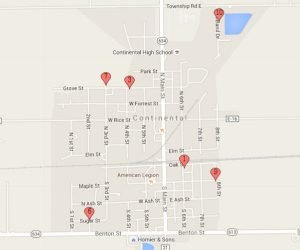 In-town Thursday sales map. Click to map map larger.