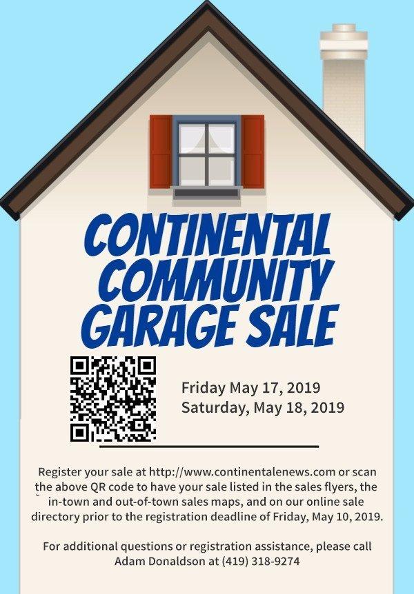2019 Continental Community Garage Sales - Continental eNews