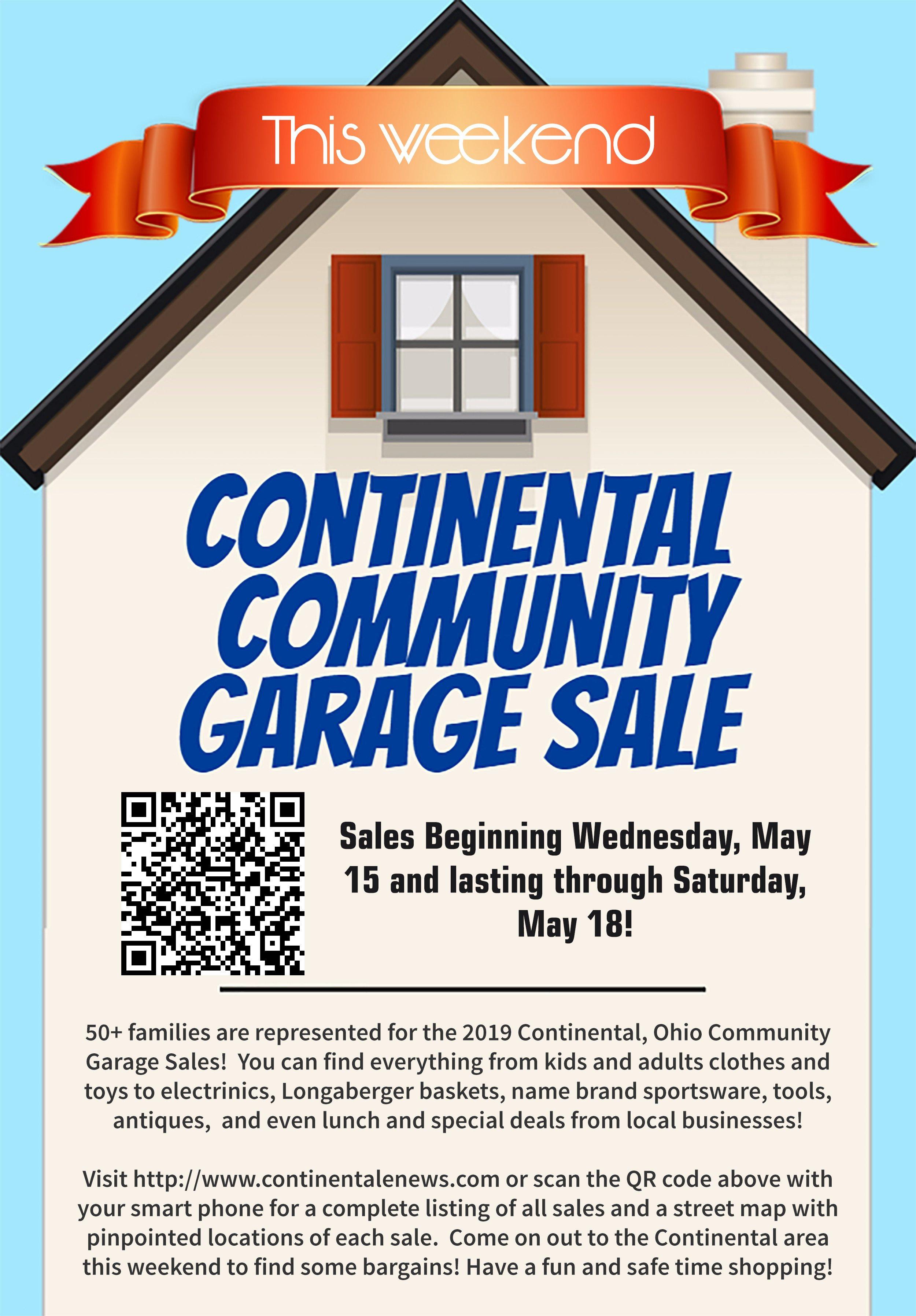 2019 Continental Ohio Community Garage Sale Listings